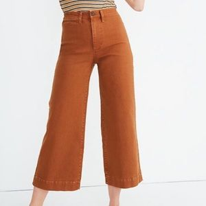 Madewell Wide Leg Crop Pant